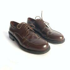 Cole Haan City Oxfords Dress Shoes Size 10 D Brown Leather Apron Toe Men's