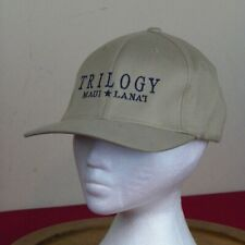 Trilogy Maui Lanai Cap Hat Beige Flex Fit L/XL Whale Watch Hawaii