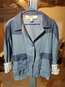 Back To The Future Marty McFly 1955 Snap Button Movie Shirt sz Med