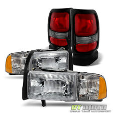 1994-2001 Dodge Ram 1500 2500 Headlights Headlamps+Tail Lights Lamps Left+Right
