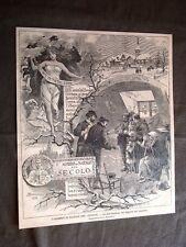 Il Natale in Italia nel 1896 Il X° Albero del Secolo biglietti del canestro