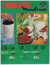 PUBLICITE ADVERTISING 104 1963 Moulinex 2 nouveautés combiné jeannette moulin ca