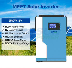 5.5KW solar inverter charger 500Vdc MPPT 100A PV input 220VAC 48VDC With WiFI