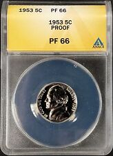 1953 Proof Jefferson Nickel certified PF 66 Cameo by ANACS!