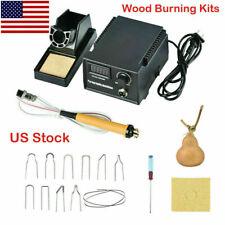Multifunction Electric Wood Burning Kits Pyrography Machine Iron Digital Display