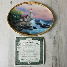 Hopes Cottage Collector Plate Thomas Kinkade Scenes Of Serenity 1995 Coa