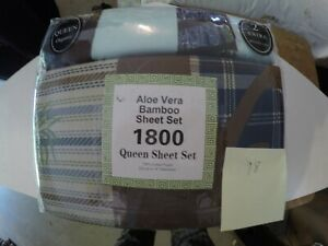 Aloe Vera Bamboo Sheet Set Queen Size Different Colors Brand New Organic