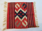 """Tapestry Small with Fringe 18""""x18"""" Vintage"""
