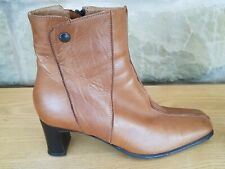 Ladies Ankle boots. UK 5  Eur 38 Tan Mid-heels Excellent Condition