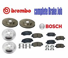 For Honda Complete Brake JOB 4-Brembo Rotors & Bosch Quiet Cast Brake Pads