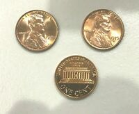 1975 P D  GEM RED UNCIRCULATED  LINCOLN CENTS (2 COINS)