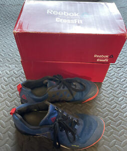 Mens Grey Reebok Crossfit Nano 7 Trainers Size 10 Used Condition Blue