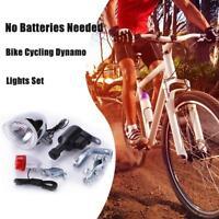 Vintage Retro Bicycle Cycling 2.4W Front light & Rear light & Dynamo Bracket Set