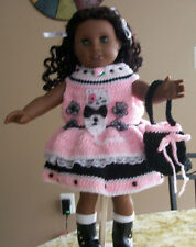 "HANDMADE CROCHET CLOTHING & ACCESSORIES FOR 18"" AMERICAN GIRL DOLLS, 10 YEARS +"