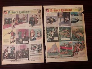19 PRINCE VALIANT full SUNDAY PAGES from first decade