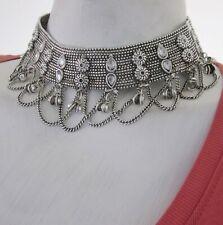 Vintage Necklace Trendy  Moroccan Coin Silver Hippie Boho Tribal Bohemian N1049