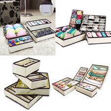 4pc / set Foldable Drawer Dividers Storage Boxes Bra Underwear Organizer Divider
