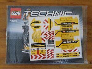 Original Bauanleitung/Instruction + Aufkleber / Sticker LEGO Technic 42009, Neu!