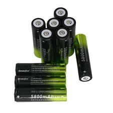10PCS 3.7V 5800mAh 18650 Li-ion Rechargeable Battery For Flashlight From US@T5