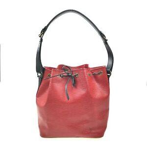 100% Authentic Louis Vuitton Epi Petit Noe Red M44172 [Used] {09-0004}