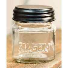 """Cute Country Rustic Small 3"""" Glass Stubby Mason Jar With Lid"""