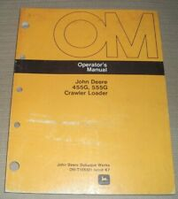 John Deere 455g 555g Tractor Loader Operator Operation Amp Maintenance Manual