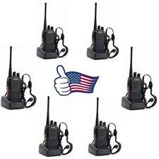 6 Pack Baofeng BF-888S Handheld UHF Two-way Ham Radio Walkie Talkies +Hesdsets