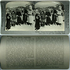 Keystone Stereoview of TIBETAN DEVIL DANCERS in INDIA From the 600/1200 Card Set