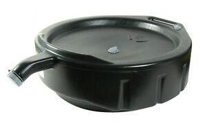 FloTool 15 Qt Oil Drain Pan, Oil Change Tools Accessories Back Handle And Spout