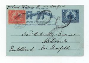 HAITI 30/7/1909 NICE POSTAL CARD TO NIEDERAULA BY PRINS WILLEM II SHIP VIA NJ