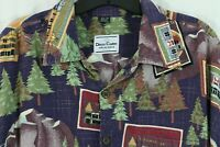 David Carey Originals 2XL SKAGWAY AK Souvenir Shirt Alaska Postcards Printed Top