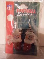 NY Giants  Ladies SNOWMAN  FOOTBALL EARRINGS NFL party tailgating jewelry