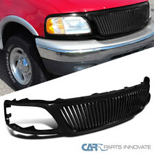 99-03 Ford F150 Expedition Vertical Front Bumper Hood Grill Black ABS Grille