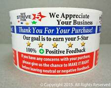 1000 eBay Thank You For Your Purchase Shipping Labels Stickers Rolls 250 or 500