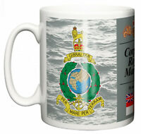 HM Navy Corps of Royal Marines Ceramic Mug, Crest Name Motto