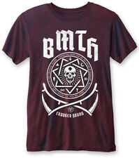 Bring Me The Horizon 'Crooked Young (Navy Red)' Burnout T-Shirt - NEW & OFFICIAL