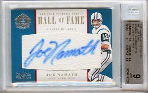 Panini - National Treasures Hall of Fame - Joe Namath 013/049