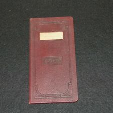 Antique 1920s Blank Bank Ledger Account Book Greenview Illinois