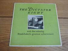 Brochure dictateur Studebaker Huit 1931 JM