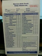 Daily Operator Checklist for Reach and Order Picker Lift / forklift safety