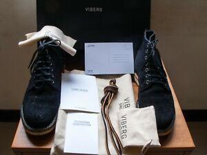 Viberg Mini Ripple Service Boot ~ Black Oil Tan RO Wedge  2040 Last  size 7