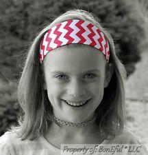 BonEful RTS NEW Boutique Girl Red White Chevron Stripe Fabric Xmas Lady Headband