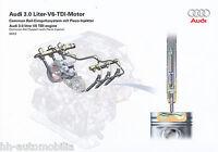 2729AU Audi 3.0 V6 TDI-Motor Common Rail Prospekt 2003 9/03 Bildprospekt