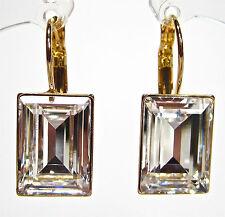 SoHo® Ohrhänger geschliffene Kristalle baguette rechteck gold crystal vergoldet