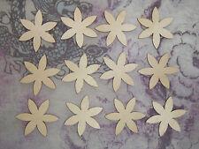 """Flower Shape Unfinished Wood Cutouts 12PCS  FL#002  2"""" Inch"""