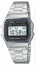 Casio A-158W-1 Orologio Uomo Vintage, Crono, Luce, Batt.7 anni, Unisex, Deal