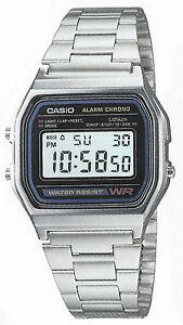 Casio A-158W Orologio Uomo Vintage, Crono, Luce, Batt.7 anni