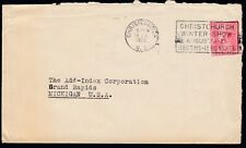 Christchurch, New Zealand 1928 Slogan Cancel Winter Show Comm'l Use to USA