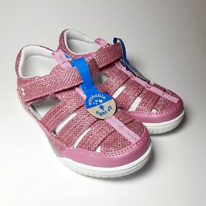 Toddler Girls Size 11 Sandals Fisherman Surprize by Stride Rite Val Lights Pink