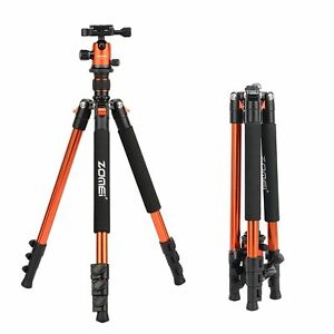 Zomei Q555 Portable Aluminium Travel Tripod&BallHead For Canon Nikon DSLR Camera